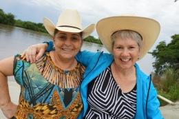 Bethinha and Jayne at the ranch