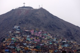 Shanty town on the side of a hill
