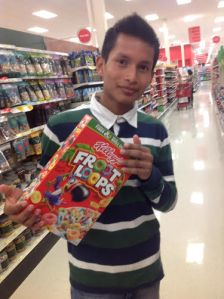 Pepe's first pick for breakfast cereal at Target