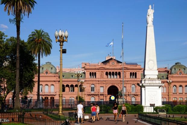 Casa Rosada on Plaza de Mayo