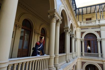 An interior courtyard of the Casa Rosada