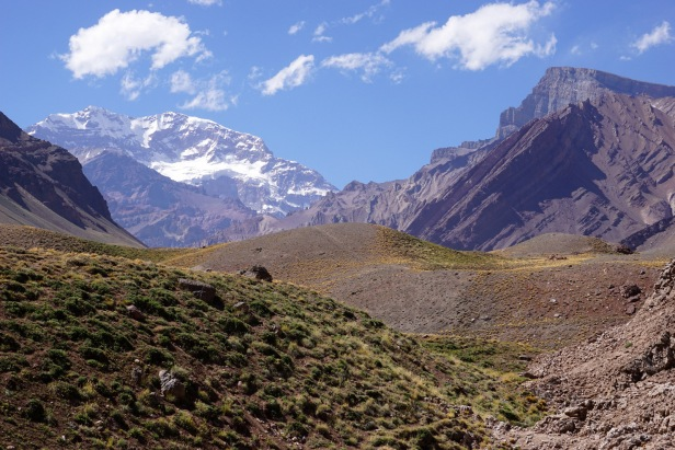Aconcagua in the distance, the highest mountain outside of Asia.