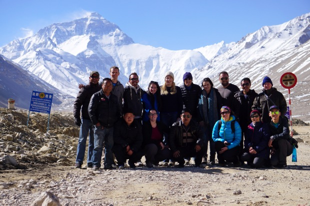 G Adventures Group at Everest