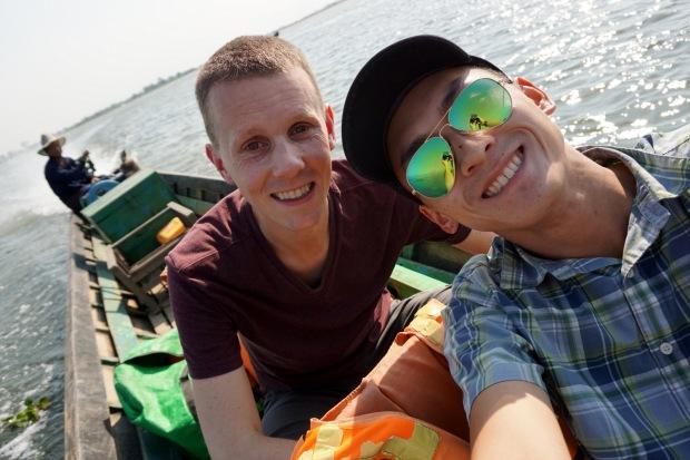 Boating on Inle Lake