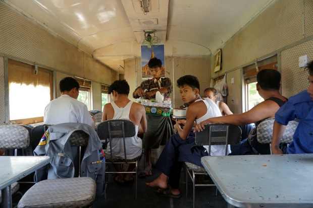 Train from Bagan to Yangon