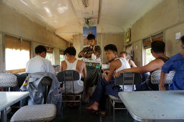Train from Bagan to Yangon